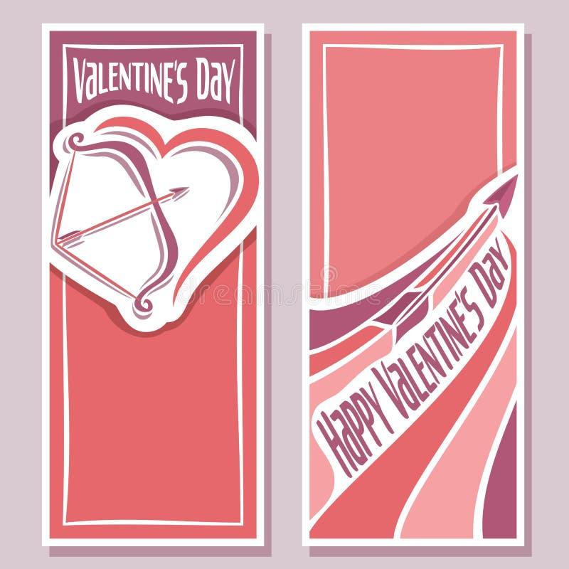 Dirigez l'illustration sur le thème des cartes pour la Saint-Valentin illustration stock