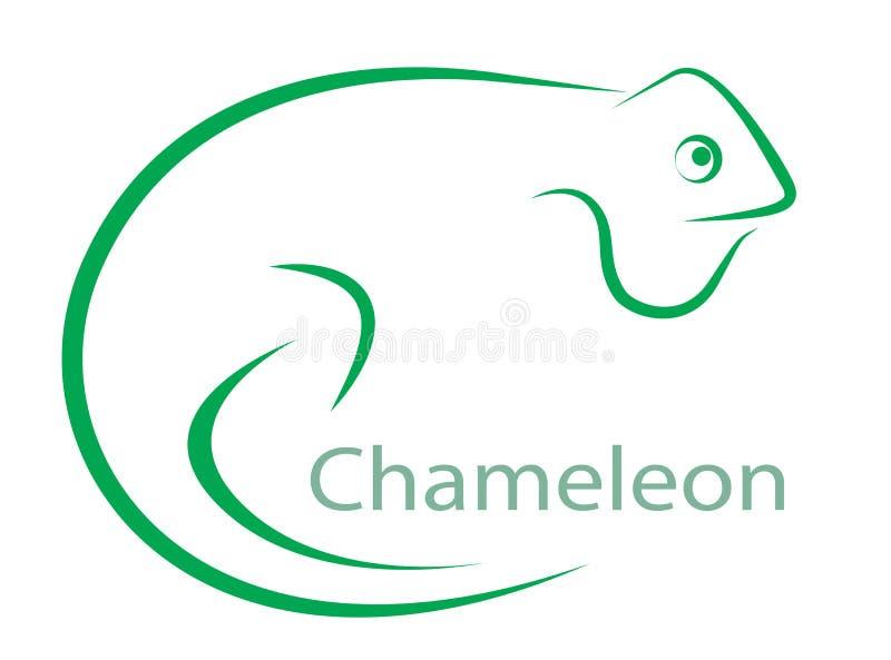 Image de vecteur d'un caméléon illustration stock