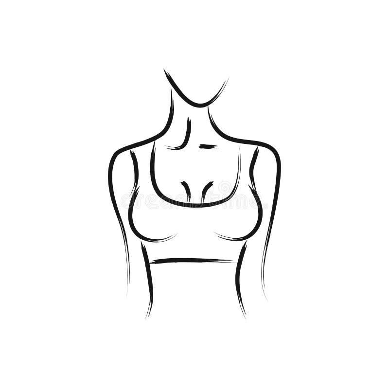 dirigez l 39 image d 39 un corps du s de femme belle forme tournez droite femelle de poitrine. Black Bedroom Furniture Sets. Home Design Ideas