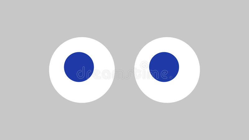 Dirigez l'image des yeux de jouet sur un fond clair Paysage soumis illustration libre de droits