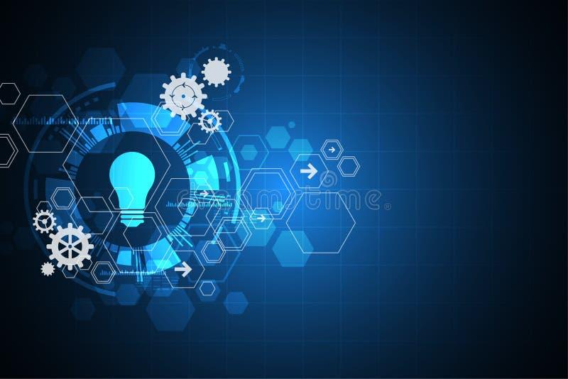 Dirigez l'innovation abstraite de technologie de fond de l'avenir illustration de vecteur