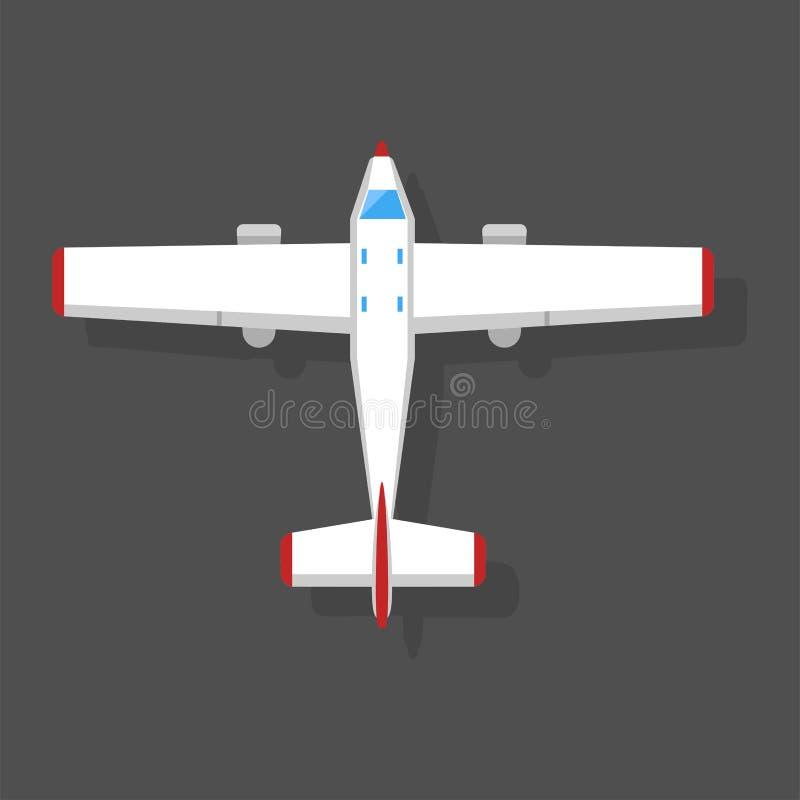 Dirigez l'objet de voyage de conception de manière de vue supérieure d'illustration d'avion et de voyage de transport d'avions illustration libre de droits