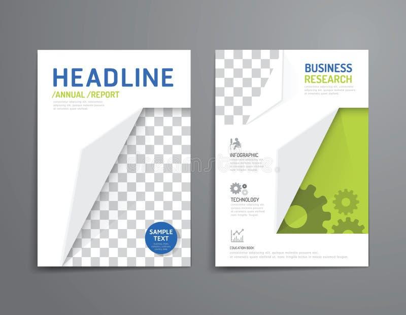 Dirigez la brochure, insecte, conception d'affiche de livret de couverture de magazine illustration stock