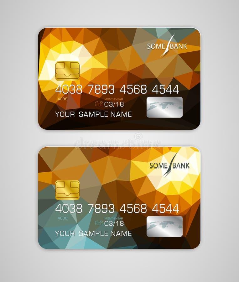 Dirigez la carte de crédit de calibres avec le modèle coloré et abstrait illustration stock