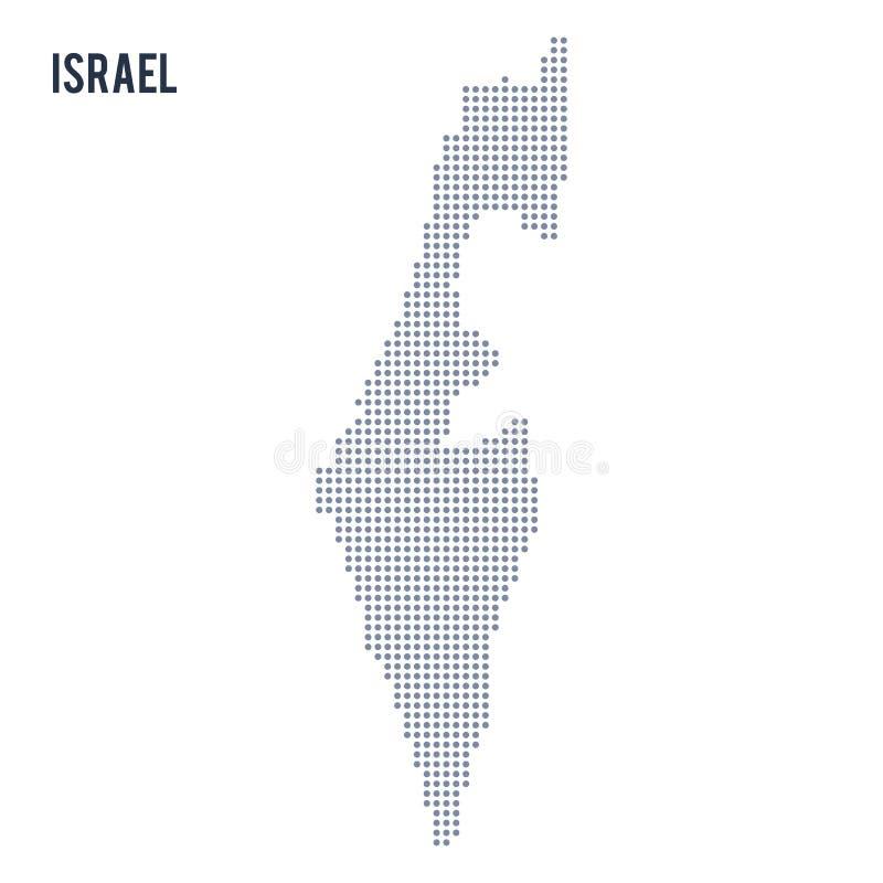 Dirigez la carte pointillée de l'Israël a isolé sur le fond blanc illustration stock