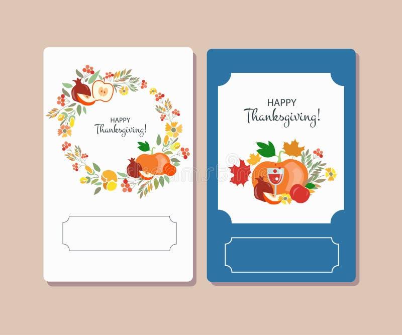 Dirigez la collection de labels et d'éléments pour le thanksgiving illustration de vecteur