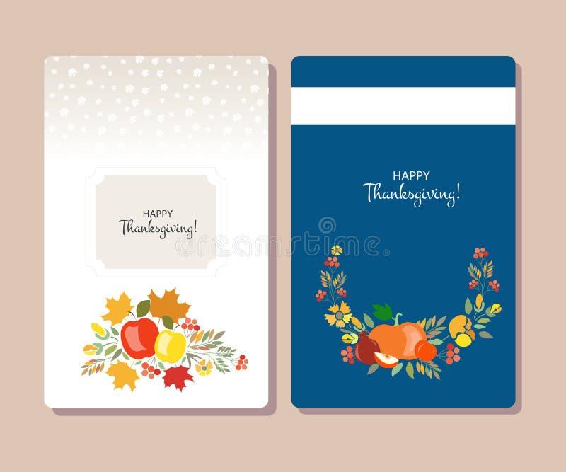 Dirigez la collection de labels et d'éléments pour le thanksgiving illustration stock