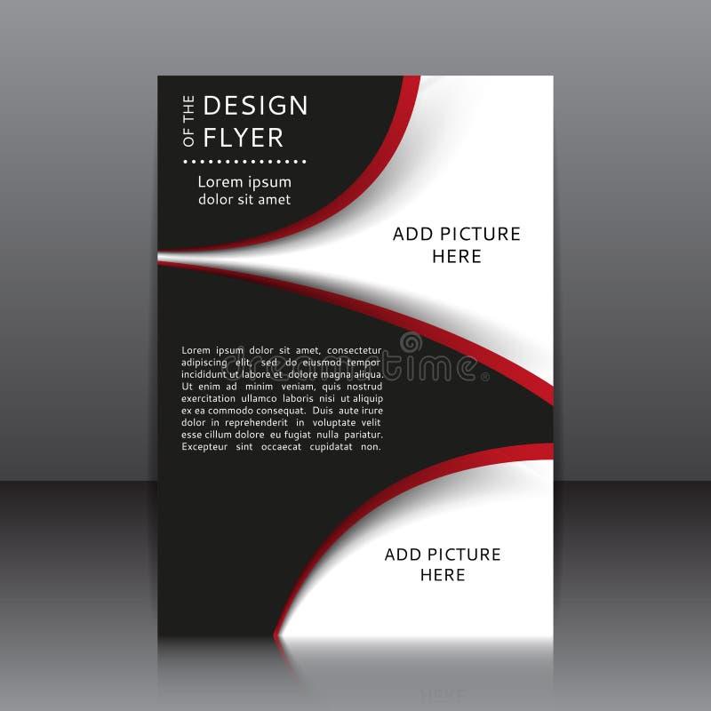 Dirigez la conception de l'insecte avec les éléments et les endroits rouges et noirs pour des images illustration de vecteur