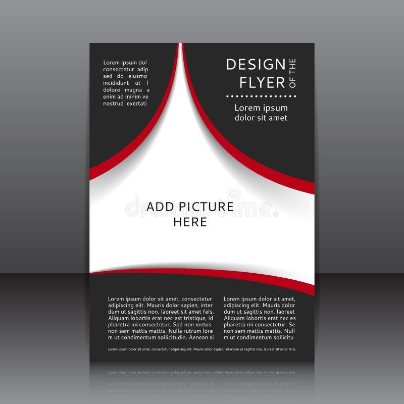 Dirigez la conception de l'insecte avec les éléments et les endroits rouges et noirs pour des images illustration libre de droits
