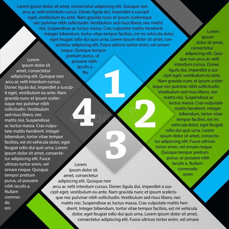 Dirigez la conception de page de brochure illustration stock