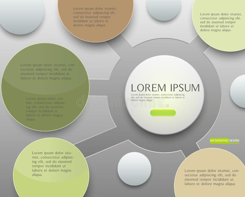 Dirigez la conception infographic d'illustration pour tracer, diagramme, repor photographie stock