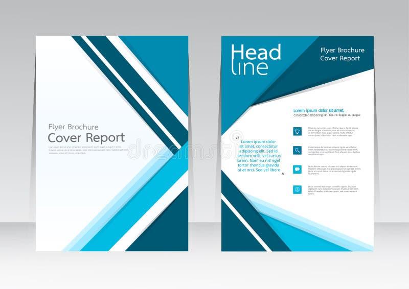 Dirigez la conception pour l'affiche annuelle d'insecte de rapport de couverture dans la taille A4 illustration stock