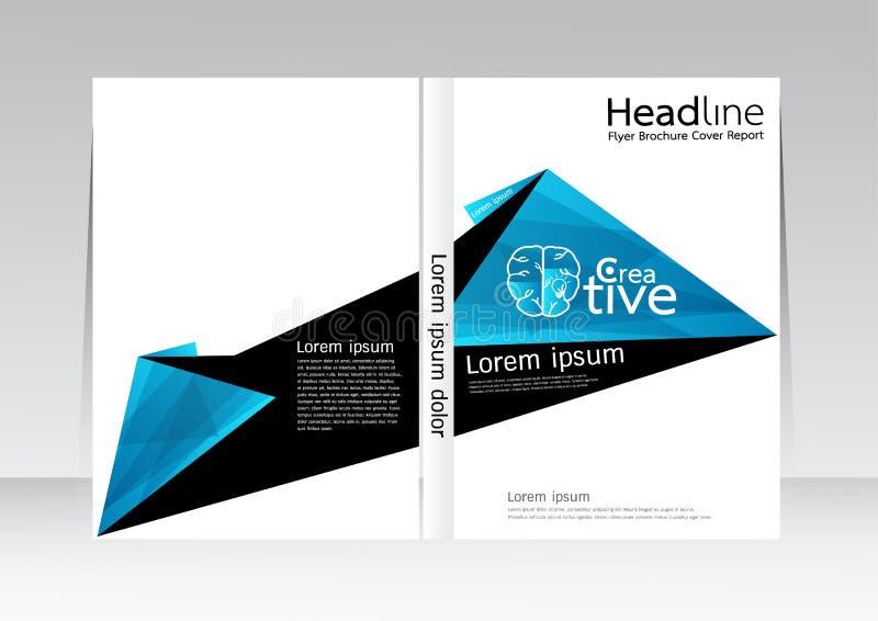 Dirigez la conception pour l'affiche annuelle d'insecte de rapport de couverture dans la taille A4 illustration de vecteur