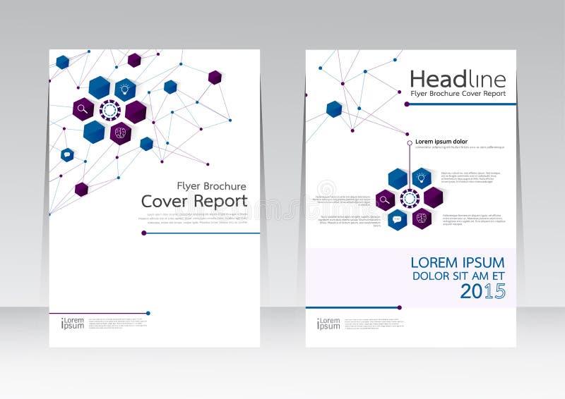 Dirigez la conception pour l'affiche d'insecte de brochure de rapport de couverture dans la taille A4 illustration libre de droits
