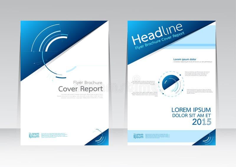 Dirigez la conception pour l'affiche d'insecte de brochure de rapport de couverture dans la taille A4 illustration stock