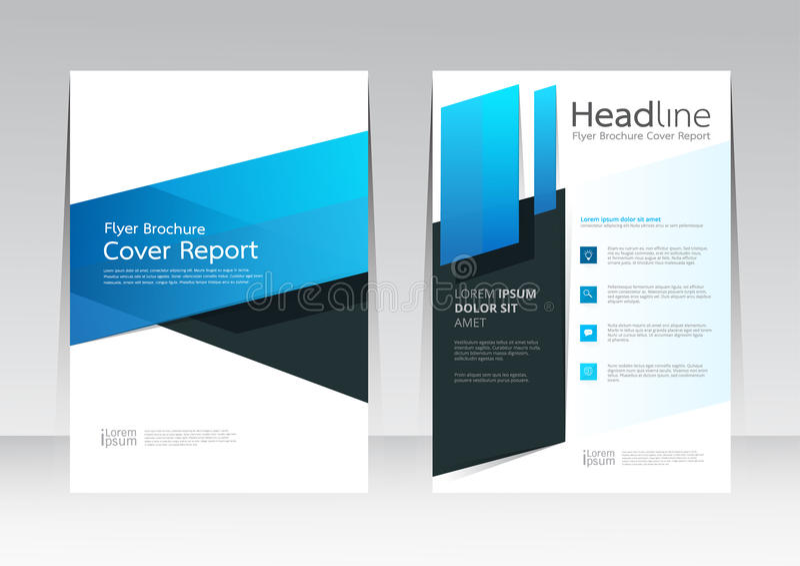 Dirigez la conception pour l'insecte de brochure de rapport de couverture dans la taille A4 illustration libre de droits