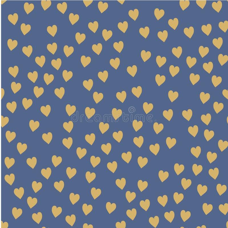 Dirigez la configuration sans joint Coeurs aléatoirement disposés Fond mignon pour la copie sur le tissu, papier, scrapbooking illustration stock