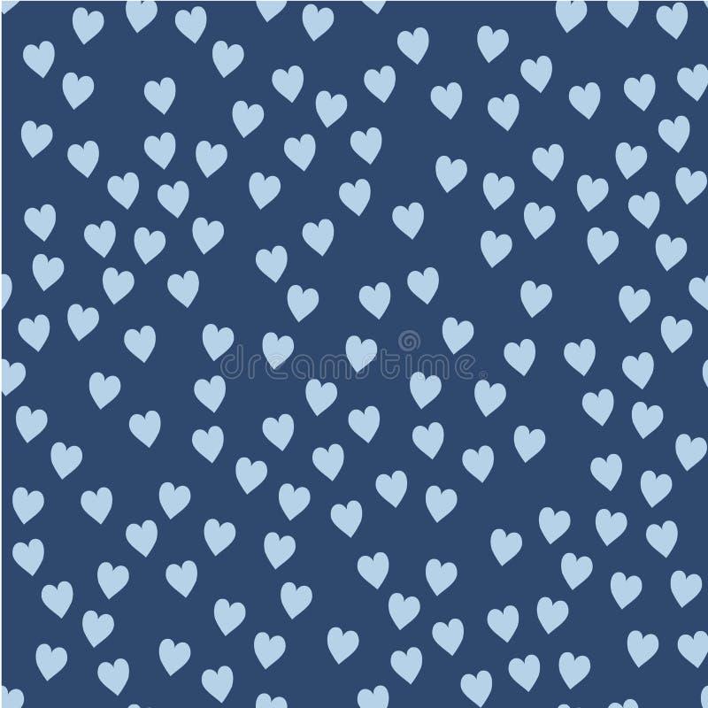 Dirigez la configuration sans joint Coeurs aléatoirement disposés Fond mignon pour la copie sur le tissu, papier, scrapbooking illustration libre de droits