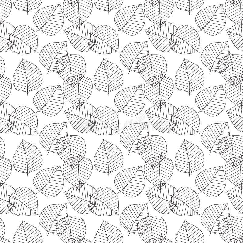 Dirigez la configuration sans joint Feuilles géométriques décoratives Fond floral avec le motif botanique élégant Élégant moderne illustration libre de droits
