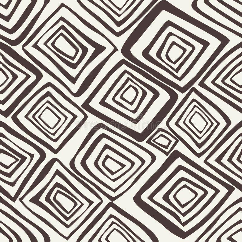 Dirigez la configuration sans joint Fond abstrait noir et blanc illustration stock