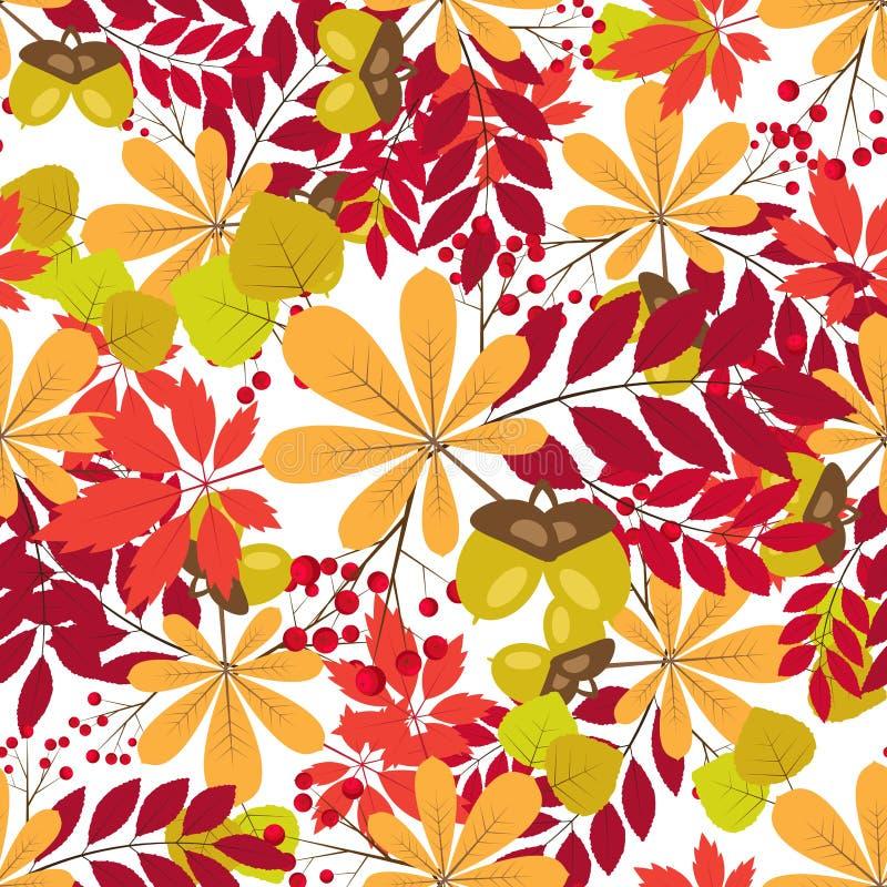 Download Dirigez La Configuration Sans Joint Fond Coloré D'automne Illustration de Vecteur - Illustration du branchement, baie: 76075270