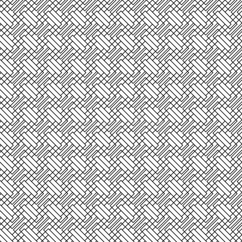 Dirigez la configuration sans joint Ligne abstraite texture Fond noir et blanc Conception monochrome illustration libre de droits