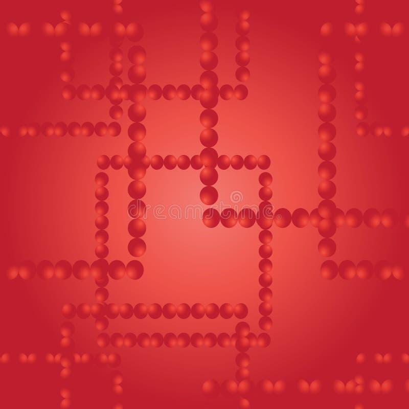 Dirigez la configuration sans joint Places des boules rouges Fond d'an neuf illustration de vecteur