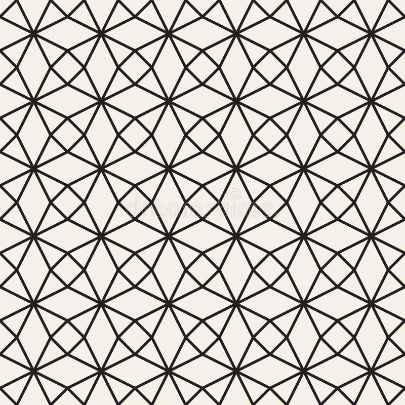 Dirigez la configuration sans joint Répétition du fond abstrait Trellis géométrique noir et blanc Texture élégante moderne de den illustration libre de droits