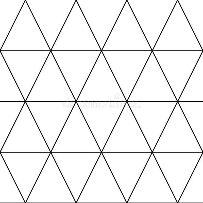 Dirigez la configuration sans joint Texture élégante moderne avec le treillis monochrome Répétition de la grille triangulaire géo image libre de droits