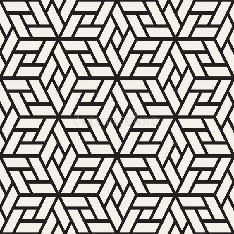 Dirigez la configuration sans joint Texture élégante moderne de trellis Répétition du fond géométrique Cubes avec des visages de  illustration libre de droits
