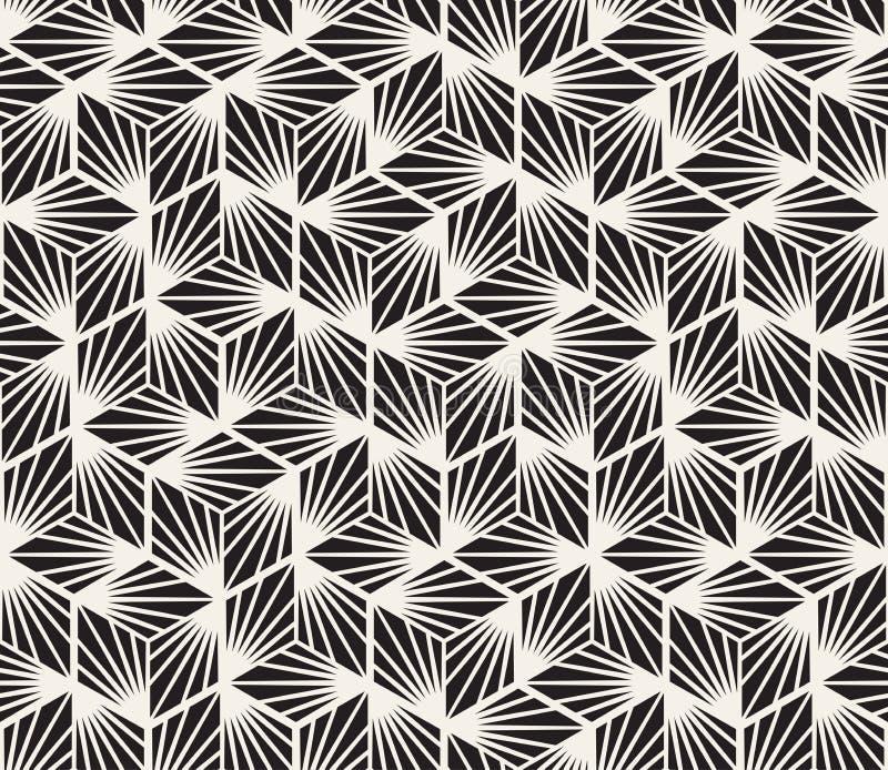 Dirigez la configuration sans joint Texture abstraite élégante moderne Répétition des formes géométriques des éléments rayés images libres de droits