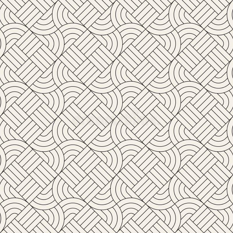 Dirigez la configuration sans joint Texture abstraite élégante moderne Répétition des tuiles géométriques photo stock