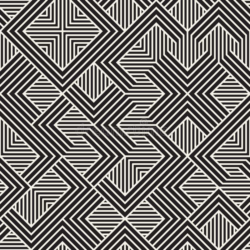 Dirigez la configuration sans joint Texture abstraite élégante moderne Répétition des tuiles géométriques illustration de vecteur