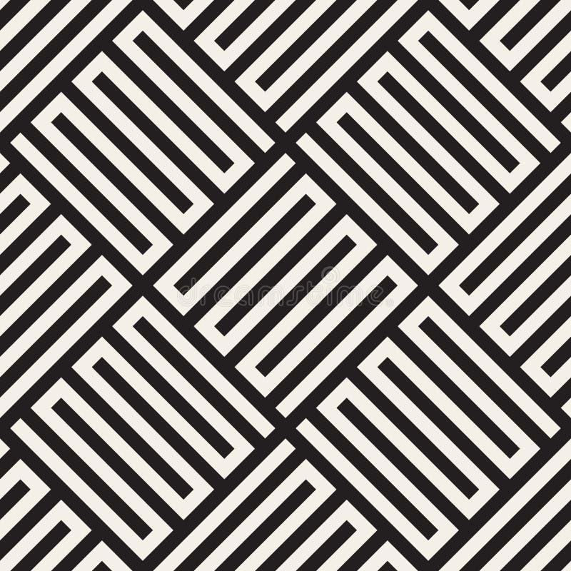 Dirigez la configuration sans joint Texture abstraite élégante moderne Répétition des tuiles géométriques illustration libre de droits