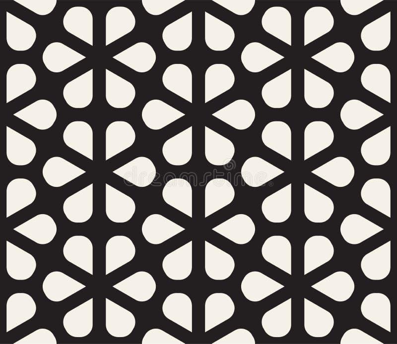 Dirigez la configuration sans joint Texture abstraite élégante moderne Répétition du trellis géométrique de formes de pétale illustration de vecteur
