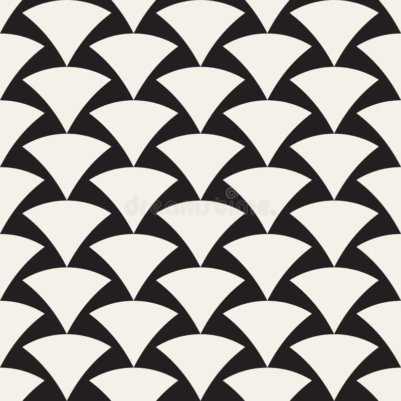 Dirigez la configuration sans joint Texture abstraite élégante simple Répétition des tuiles géométriques illustration de vecteur