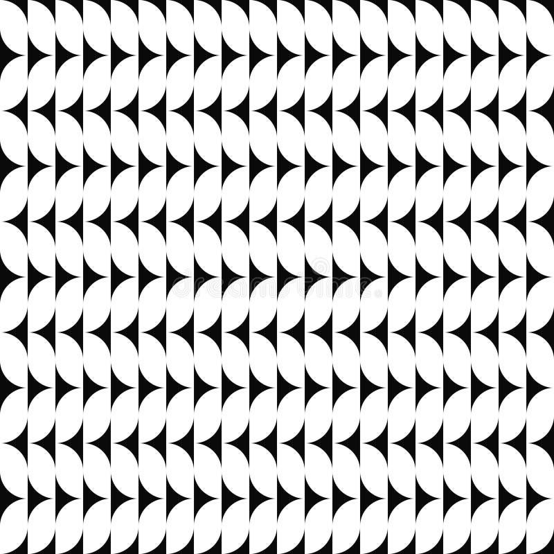 Dirigez la configuration sans joint Texture abstraite de formes Fond noir et blanc Conception monochrome illustration de vecteur