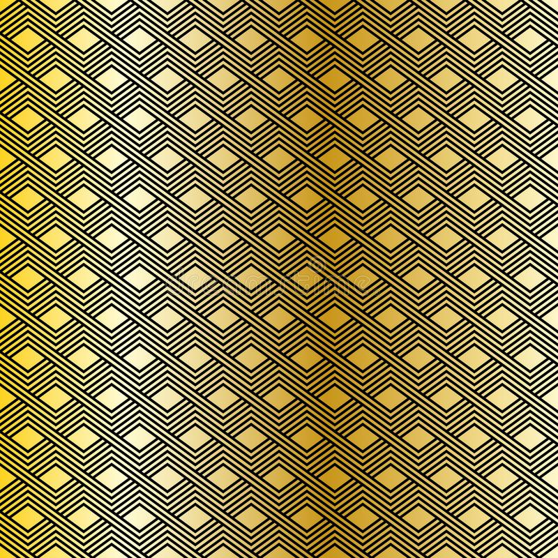 Dirigez la configuration sans joint Texture linéaire élégante moderne Répétition des tuiles géométriques avec les éléments trapéz illustration de vecteur