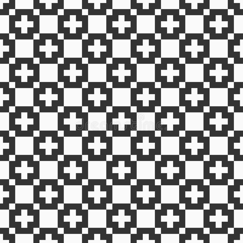 Dirigez la configuration sans joint Texture simple des places Copie élégante de textile illustration libre de droits