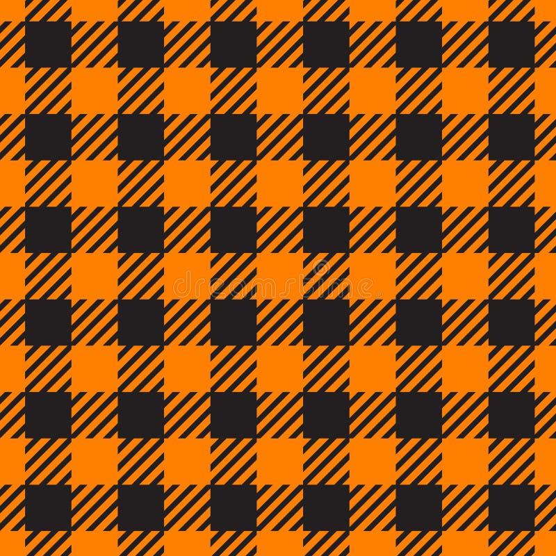 Dirigez la configuration sans joint Tissu orange de mode de couleur de fond de cellules dans une cage Contexte à carreaux abstrai illustration libre de droits