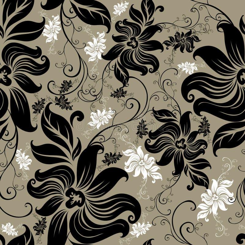 Dirigez la configuration tournoyée florale sans joint illustration stock