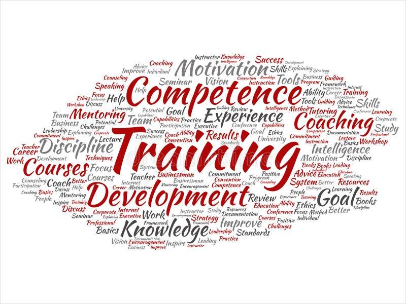 Dirigez la formation, donnant des leçons particulières ou apprenant, étude illustration de vecteur
