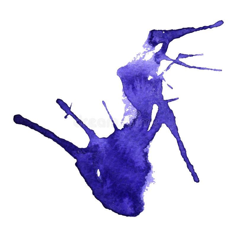 Dirigez la goutte d'aquarelle, d'isolement sur le fond blanc illustration de vecteur