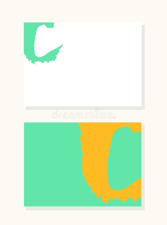 Dirigez la lettre tirée par la main C avec les bords acryliques doux de style de brosse, ensemble saturé coloré de fond illustration stock