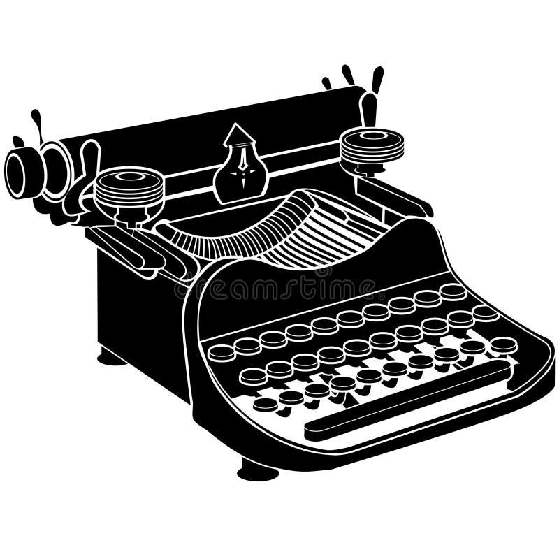 Dirigez la machine à écrire manuelle illustration de vecteur