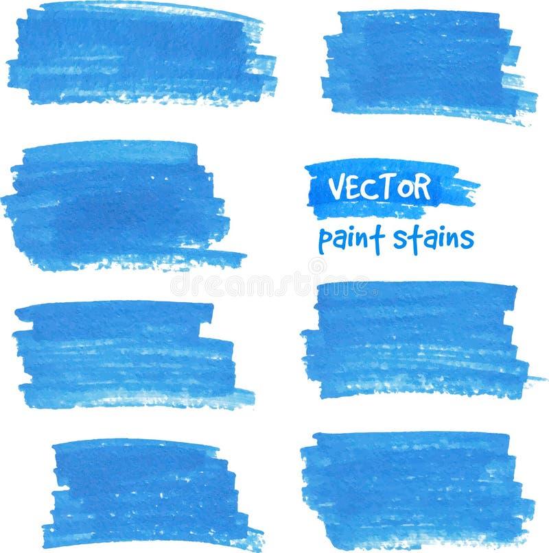 Dirigez la tache de la peinture dessinée par le stylo de feutre illustration libre de droits