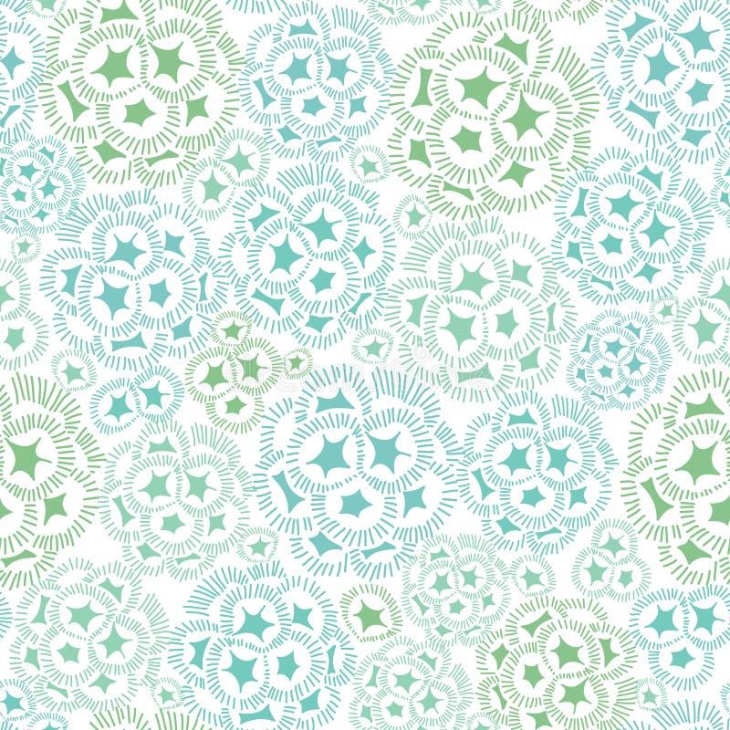 Dirigez la texture abstraite verte et bleue en bon état d'usine d'algue dessinant le fond sans couture de modèle Grand pour subti illustration libre de droits
