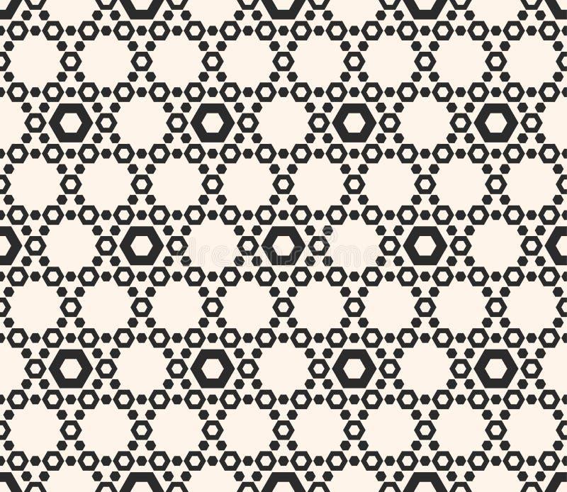 Dirigez la texture d'hexagones, modèle sans couture géométrique avec le perfora illustration de vecteur
