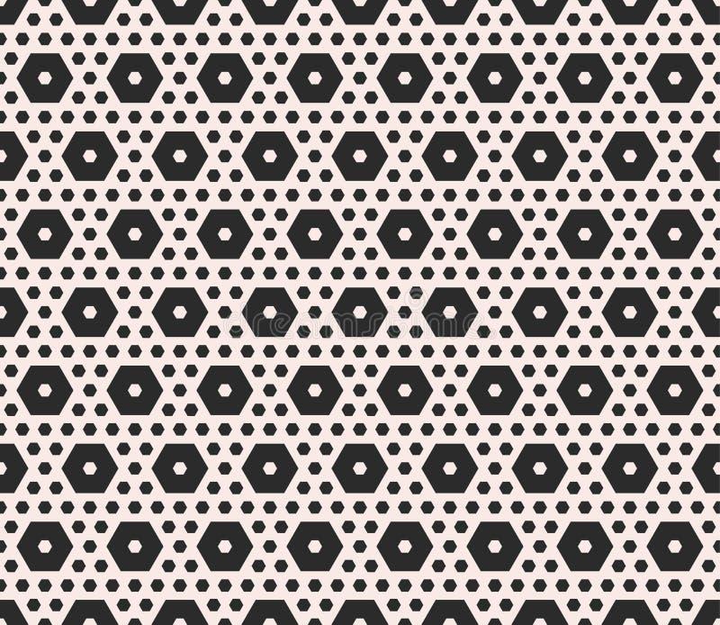Dirigez la texture monochrome, modèle sans couture géométrique avec le diffe illustration de vecteur