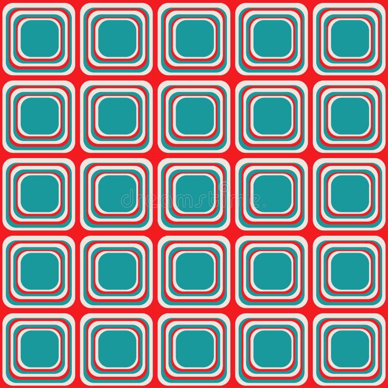 Dirigez la texture sans couture avec les places arrondies ressemblant à la vieille TV illustration libre de droits
